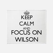 Keep calm and Focus on Wilson Throw Blanket