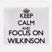 Keep calm and Focus on Wilkinson Throw Blanket
