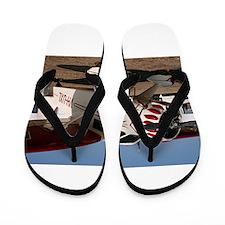 Stinson Aircraft (red & white) Flip Flops