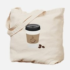 Paper Coffee Cup Tote Bag