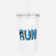 Grunge Run Acrylic Double-Wall Tumbler