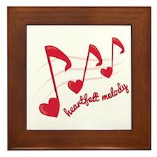 Heart Melt Melody Framed Tile