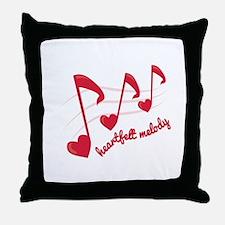 Heart Melt Melody Throw Pillow