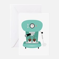 Espresso Coffee Machine Greeting Cards