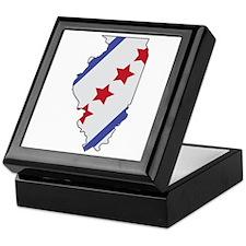Illinois Map Keepsake Box