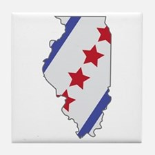 Illinois Map Tile Coaster