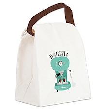 Coffee Machine Barista Canvas Lunch Bag