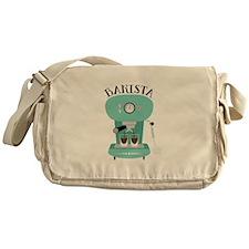 Coffee Machine Barista Messenger Bag