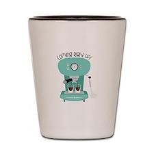 Coffee Machine Order Shot Glass