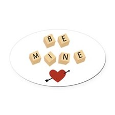 Be Mine Oval Car Magnet