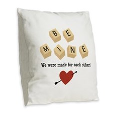Made for Each Other Burlap Throw Pillow