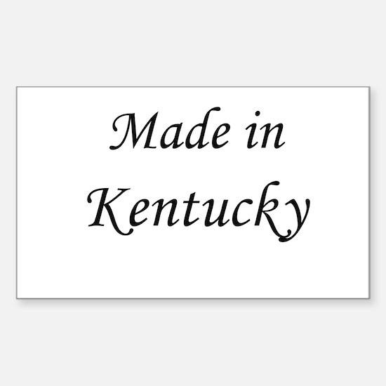 Kentucky Rectangle Decal