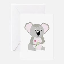 Koala Valentine Greeting Cards