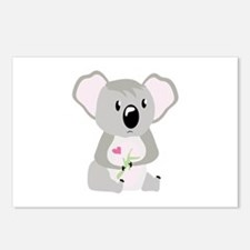 Koala Valentine Postcards (Package of 8)