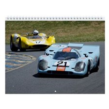 Race Car Wall Calendar