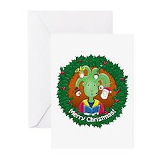 Little Medusa. Merry Christmas! Greeting Cards