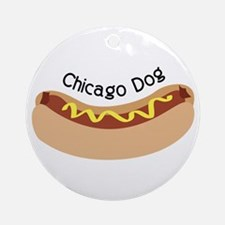 Chicago Dog Ornament (Round)