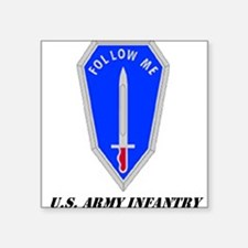 "Cute U.s army Square Sticker 3"" x 3"""