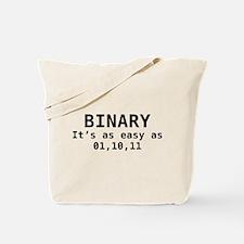 Binary It's As Easy As 01,10,11 Tote Bag