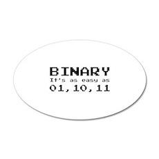 Binary It's As Easy As 01,10,11 22x14 Oval Wall Pe