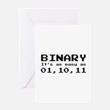 Binary It's As Easy As 01,10,11 Greeting Card