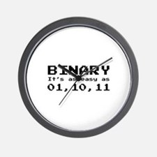 Binary It's As Easy As 01,10,11 Wall Clock