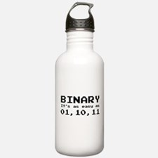 Binary It's As Easy As 01,10,11 Water Bottle