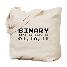Binary It's As Easy As 01,10,11 Tote Bag