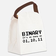 Binary It's As Easy As 01,10,11 Canvas Lunch Bag