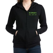 Binary It's As Easy As 01,10,11 Zip Hoodie