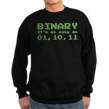 Binary It's As Easy As 01,10,11 Sweatshirt
