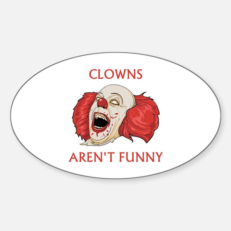 Clowns Aren't Funny Stickers