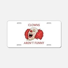 Clowns Aren't Funny Aluminum License Plate