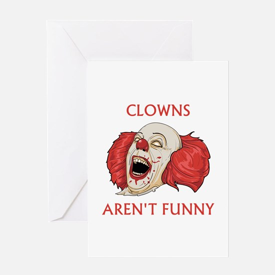Clowns Aren't Funny Greeting Card