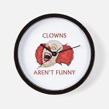 Clowns Aren't Funny Wall Clock
