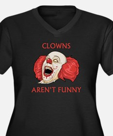 Clowns Aren't Funny Women's Plus Size V-Neck Dark