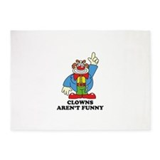Clowns Aren't Funny 5'x7'Area Rug