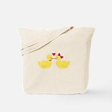 Kiss Ducks Tote Bag