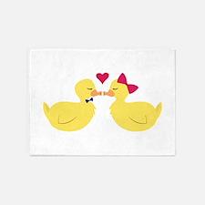 Kiss Ducks 5'x7'Area Rug