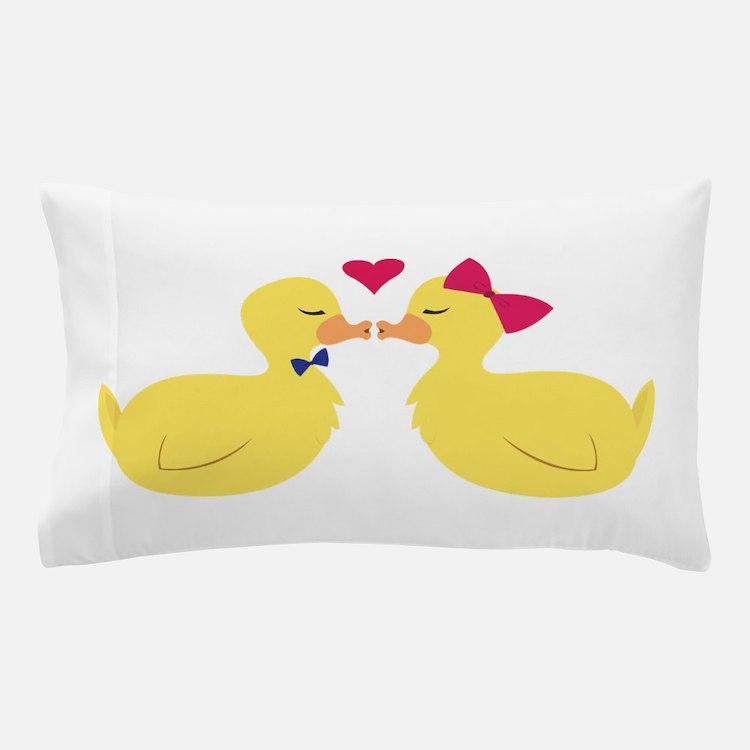 Kiss Ducks Pillow Case