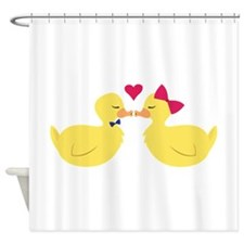 Kiss Ducks Shower Curtain