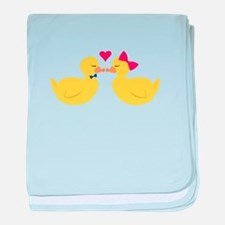 Kiss Ducks baby blanket