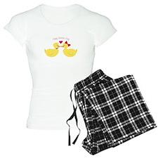 Valentines Ducks Pajamas