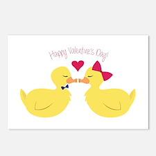 Valentines Ducks Postcards (Package of 8)