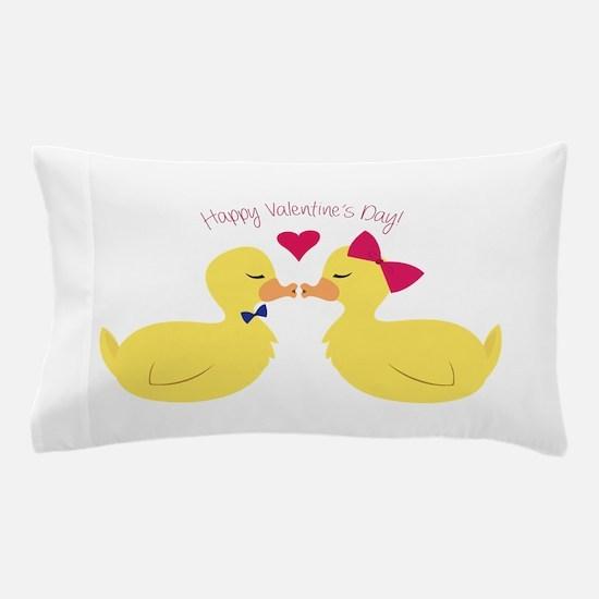 Valentines Ducks Pillow Case