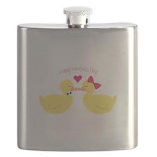 Valentines Ducks Flask