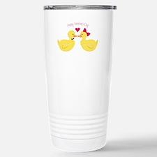 Valentines Ducks Travel Mug