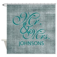 Personalized Mr. Mrs. Wedding Shower Curtain