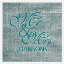 Personalized Mr. Mrs. Wedd 5.25 x 5.25 Flat Cards
