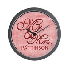 Personalized Family Name Mr and Mrs Wall Clock